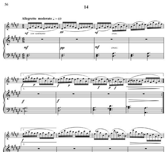 For Flute and Piano p58