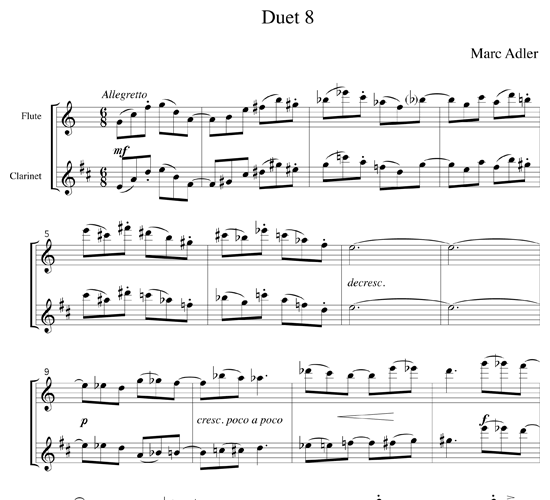 Jazz Duets for Flute and Clarinet