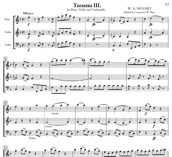 Easy flute trios free sheet music three easy trios for for House music arrangement