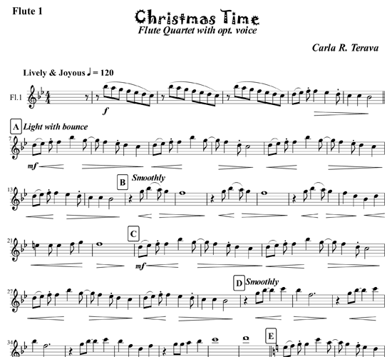 Capotastomusic Free Sheet Music Scores Love This Blog: Christmas Time For Flute Ensemble